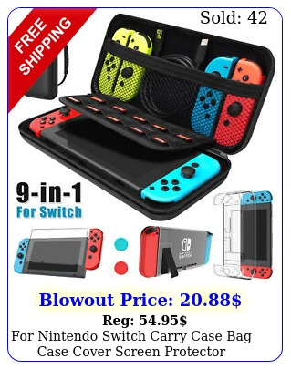 nintendo switch carry case bag case cover screen protector accessories ki