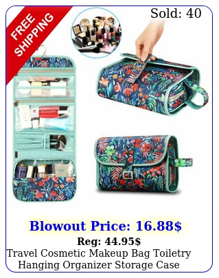 travel cosmetic makeup bag toiletry hanging organizer storage case pouch wome
