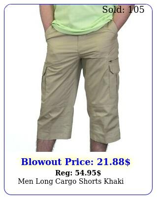 men long cargo shorts khak