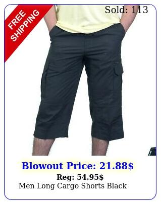 men long cargo shorts blac