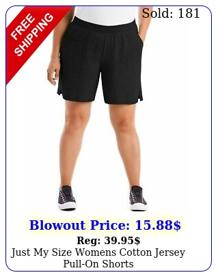 just my size womens cotton jersey pullon short