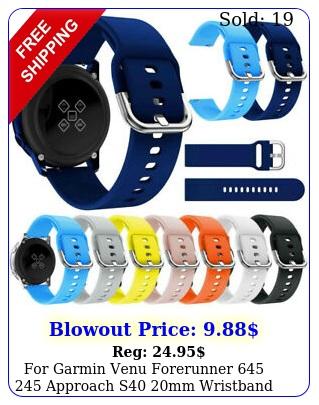 garmin venu forerunner  approach s mm wristband watch band stra