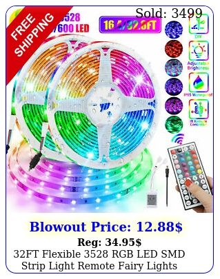 ft flexible rgb led smd strip light remote fairy lights room tv party ba