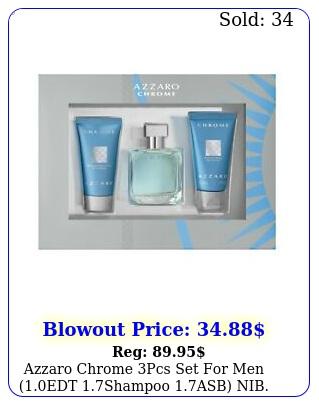 azzaro chrome gift set men edt oz spray after shave balm all over shampo