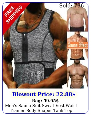 men's sauna suit sweat vest waist trainer body shaper tank top compression shir