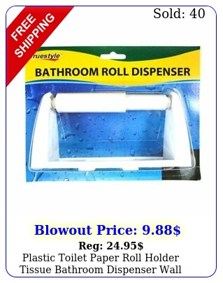 plastic toilet paper roll holder tissue bathroom dispenser wall mounted hook wh