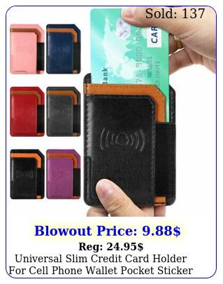 universal slim credit card holder cell phone wallet pocket sticker adhesiv