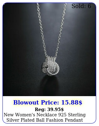 women's necklace sterling silver plated ball fashion pendant jewelr
