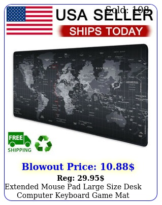 extended mouse pad large size desk computer keyboard game mat mm x mm u
