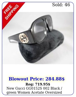 gucci ggs black green women acetate oversized eyewear sunglasse