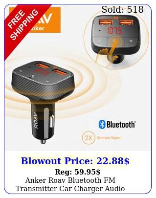 anker roav bluetooth fm transmitter car charger audio adapter receiver port