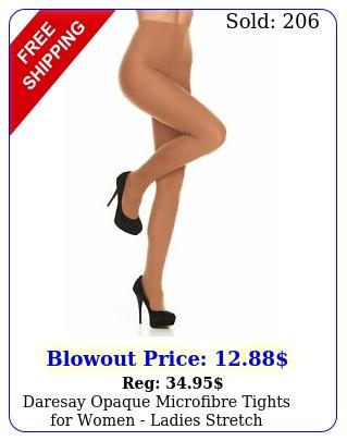 daresay opaque microfibre tights women ladies stretch pantyhose de