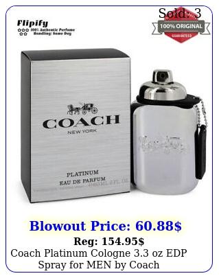 coach platinum cologne oz edp spray men by coac