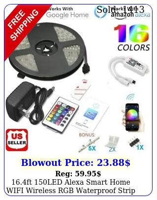 ft led alexa smart home wifi wireless rgb waterproof strip neon light ki