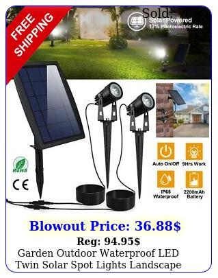 garden outdoor waterproof led twin solar spot lights landscape lighting l