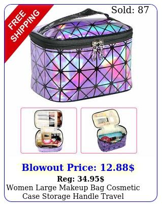 women large makeup bag cosmetic case storage handle travel organizer artist ki