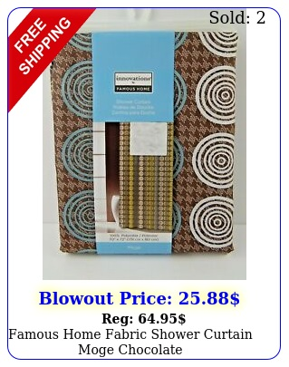 famous home fabric shower curtain moge chocolat