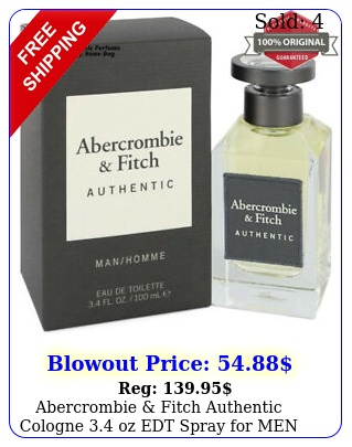 abercrombie fitch authentic cologne oz edt spray me