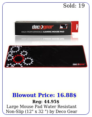large mouse pad water resistant nonslip x  by deco gea