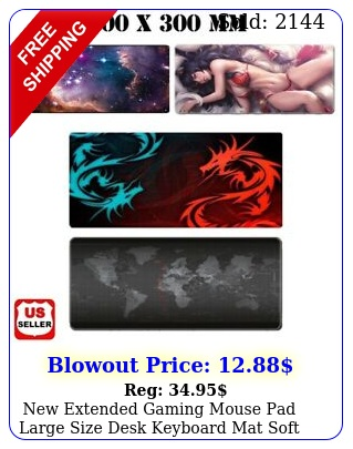 extended gaming mouse pad large size desk keyboard mat soft thick x '