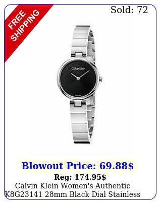 calvin klein women's authentic kg mm black dial stainless steel watc