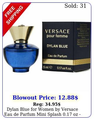 dylan blue women by versace eau de parfum mini splash oz i