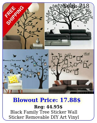 black family tree sticker wall sticker removable diy art vinyl mural decor u