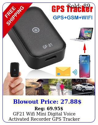 gf wifi mini digital voice activated recorder gps tracker audio recording bu