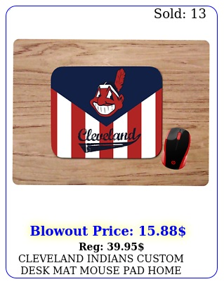 cleveland indians custom desk mat mouse pad home office gift ml
