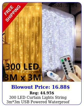 led curtain lights string mm usb powered waterproof twinkle wall light