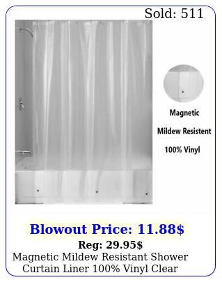 magnetic mildew resistant shower curtain liner vinyl clear
