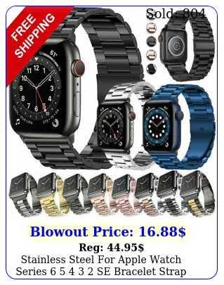 stainless steel apple watch series   se bracelet strap band m