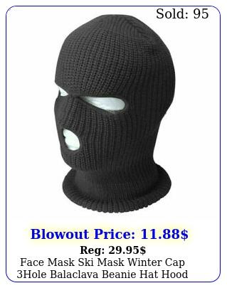 face mask ski mask winter cap hole balaclava beanie hat hood tactical warm bl