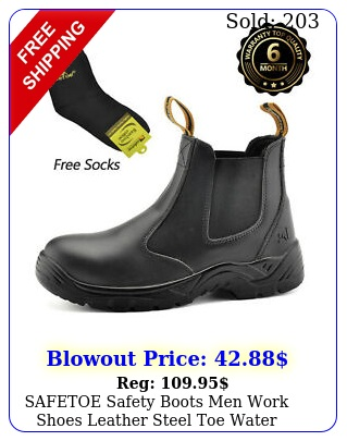safetoe safety boots men work shoes leather steel toe water resistant breathabl