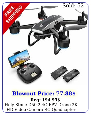 holy stone d g fpv drone k hd video camera rc quadcopter with batterie