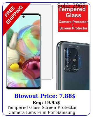 tempered glass screen protector  camera lens film samsung galaxy a a
