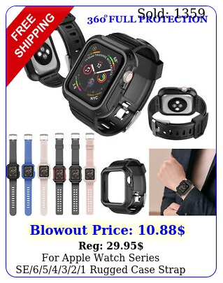 apple watch series se rugged case  strap bands m