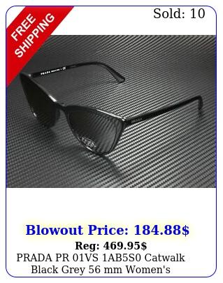 prada pr vs abs catwalk black grey mm women's sunglasse