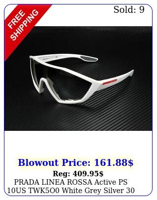 prada linea rossa active ps us twko white grey silver men's sunglasse