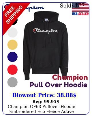 champion gf pullover hoodie embroidered eco fleece active sweatshir