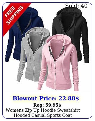 womens zip up hoodie sweatshirt hooded casual sports coat windproof sweat jacke
