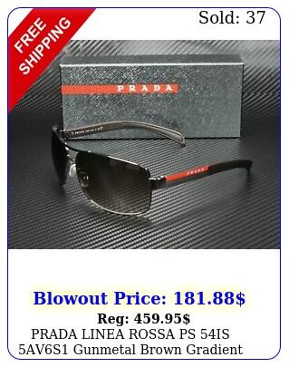 prada linea rossa ps is avs gunmetal brown gradient mm men's sunglasse