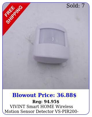 vivint smart home wireless motion sensor detector vspir whit