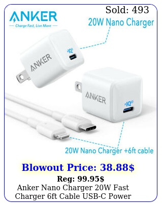 anker nano charger w fast charger ft cable usbc power adapter iphon
