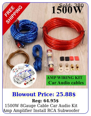 w gauge cable car audio kit amp amplifier install rca subwoofer sub wirin
