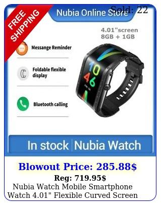 nubia watch mobile smartphone watch flexible curved screen amoled wrist u