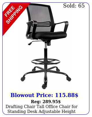 drafting chair tall office chair standing desk adjustable height wfootres