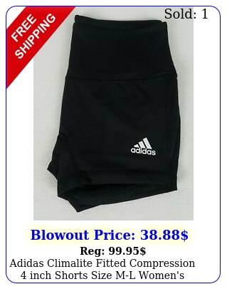 adidas climalite fitted compression inch shorts size ml women's black c