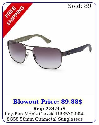 rayban men's classic rbg mm gunmetal sunglasse