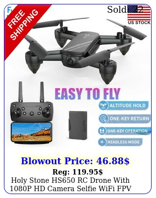 holy stone hs rc drone with p hd camera selfie wifi fpv rc quadcopter to